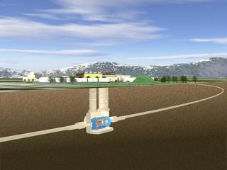 Схема расположения установки АТЛАС в ЦЕРН