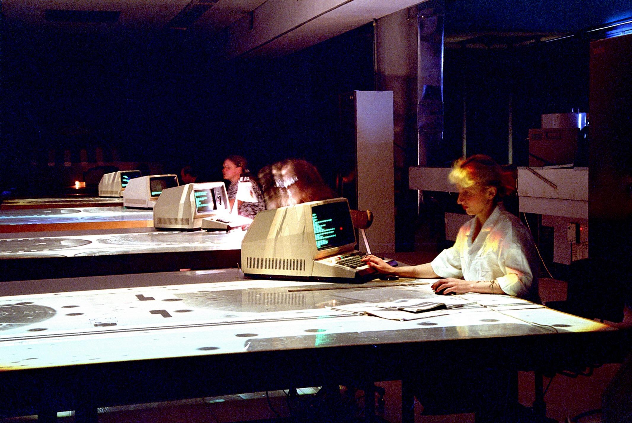 Анализ экспериментальных данных за просмотровым столом.